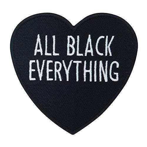 Finally Home All Black Everything Herz Bügelbild Patches zum Aufbügeln | Patch, Aufbügelmotive