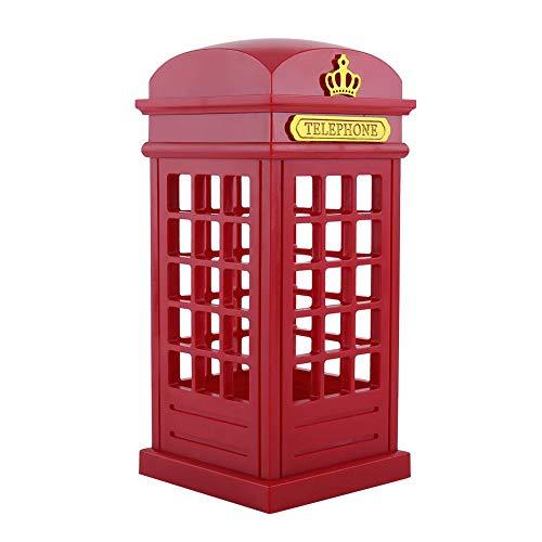 Retro Londres Cabina telefónica Lámpara de Noche, lámpara de Escritorio de Carga USB de Color Amarillo cálido con Sensor táctil, decoración para el hogar, Dormitorio, Sala de Estar