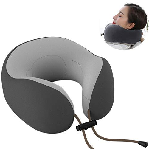 PLHMS Masajeador Cervical, Cuello del Recorrido de la Almohadilla, Positivo y Negativo Masaje de amasamiento, Diseño de reducción de Ruido, sin la batería,Black(nofunction)