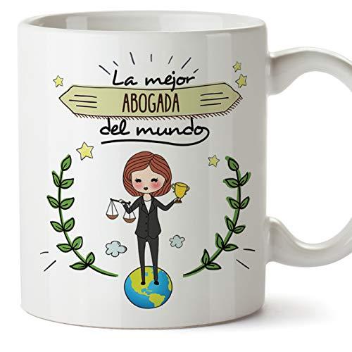 MUGFFINS Abogada Tazas Originales de café y Desayuno para Regalar a Trabajadores Profesionales - La Mejor Abogada del Mundo - Cerámica 350 ml