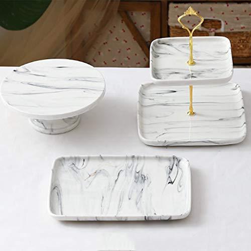 BLLXMX Cupcake Ständer Tortenständer, Kuchenständer Display Dessert Halter Hochzeit Regal Schmiedeeisen Kristall Rack Tischdekoration, Keramikmaterial
