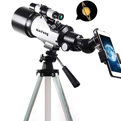 CKQ-KQ MF40070 Portable refractortelescoop - Fully Coated Glass Optics - Ideaal Telescoop for beginners met Phone Mount & Tripod