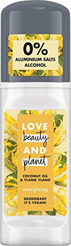 Love Beauty And Planet Energizing Deo Roll-On für die Achselpflege Coconut Oil & Ylang Ylang Flower ohne Aluminium, 1 Stück (50 ml)