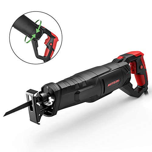 Reciprocating Saw, Meterk 850W 0-2800SPM Sabre Saw with Non-Slip Rotary Handle...