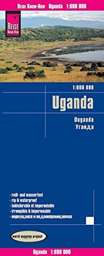 Reise Know-How Landkarte Uganda (1:600.000): world mapping project / reiß - und wasserfest