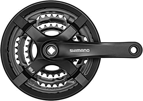 Shimano FC-TY501 Vierkant 6/7/8-fach Kurbelgarnitur, schwarz, 175 mm