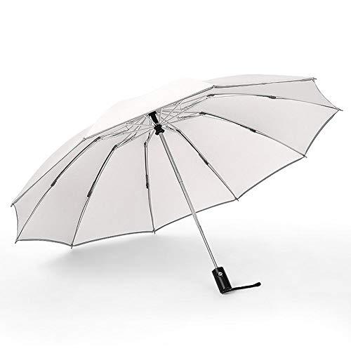 Betteros 10 varillas de apertura automática/cierre a prueba de viento, paraguas impermeable de viaje, paraguas portátil con mango antideslizante 200T