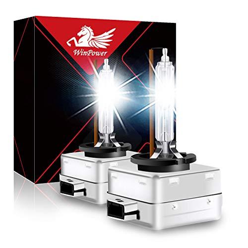 WinPower D1S Bixenon 35W Luz Xenon Bombilla HID Kit Faro Lámpara de descarga gaseosa 12V Coche 4300K Amarillo Xtreme Vision (2 Bombillas)