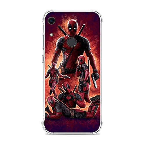 phpkim88 Clear Thin Flexible Soft TPU Shockproof Case Cover For Huawei Y6 2019 At Hero At Deadpool 2