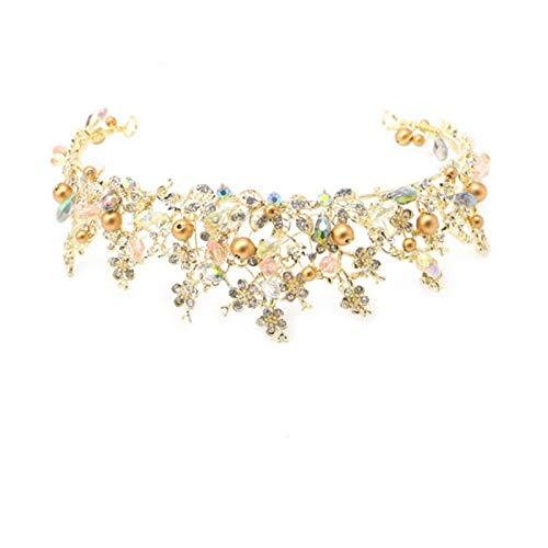YTGUEVKDH Aleación Nupcial Corona Tocado de Cristal Vestido de Boda Accesorios Diadema Exquisito cumpleaños Tocado joyería