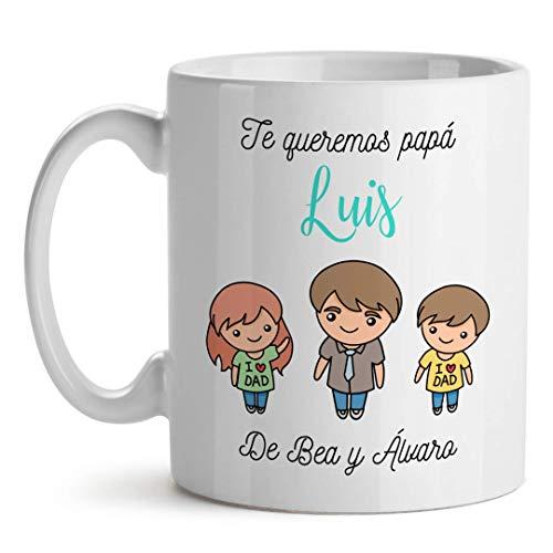 Kadoo Regalos Taza Personalizada Día del Padre Padre Solo Hay Uno