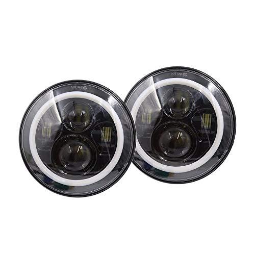 SXMA 2pcs 7 Round LED Headlight E-MARK Approved Cree LED with DRL Turn Signal 6000K Hi//lo Beam Headlamp Lights for J EEP Wrangler JK 97-17 HL226