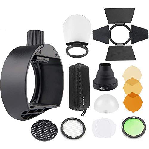 Godox AK-R1 Kit accessori testa rotonda Godox S-R1 Adattatore testa flash per Godox V860II TT685 TT600 Lampeggiatore flash fotocamera + Diffusore NAMV