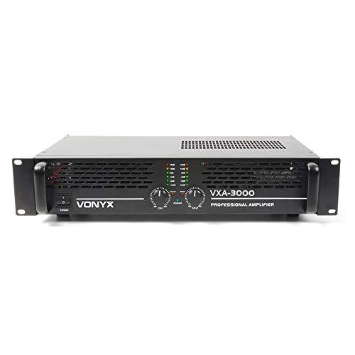 VONYX VXA-3000 DJ Power Amplifier 2 Channel Stereo & Bridge PA 19' 1U 1500w...