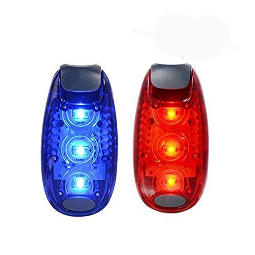 Xcellent Global Lot de 2 Éclairages de Sécurité, Feu Arrière de Vélo, Nocturnes et Haute-Visibilité, pour Coureurs, Cyclistes, Marcheurs, Joggeurs, Enfants, Chiens, Activités Extérieures, Rouge+Bleu LD097