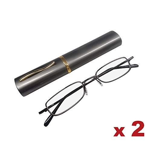 ALBRIGHT 2 Pack Gafas Lectura Portátiles Unisex +2.00