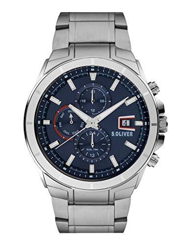 s.Oliver Herren Analog Quarz Uhr mit Edelstahl Armband SO-3996-MM