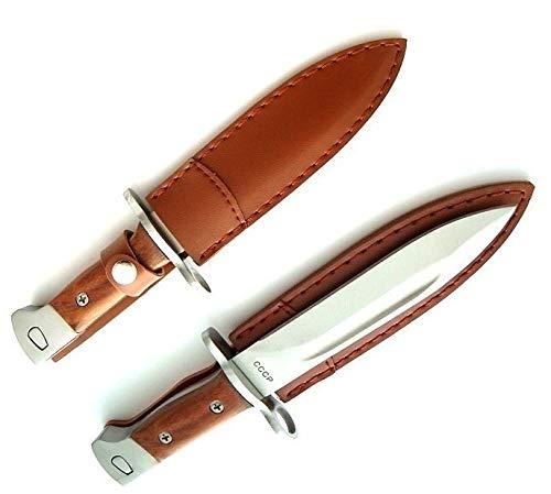 KOSxBO® Outdoormesser CCCP Jagdmesser - Länge 26cm - Abfangmesser - Gürtelmesser - Bajonett - Angelmesser - taktisches Messer - Hunting Knife- Inklusive Gürteltasche