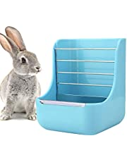 Felenny Alimentador de Caja de Comida de Heno de Marco de Hierba de Conejo 2 en 1 Alimentador de Mascotas Dispensador de Tazón de Comida Conejos Hierbas Estante Contenedor para Animales