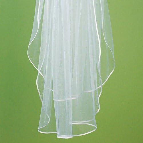 Weddingstar Veil-Ribbon Edge, White