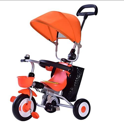 Combikinderwagen 1-3 jaar oud baby driewieler opvouwbare kinderwagen verstelbare baldakijn opbergtas rem afneembare geleidingsplank kinderwagen & buggys