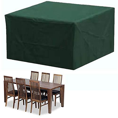 HTCSZL Funda para Muebles de Jardín, Funda Protectoras Muebles Jardin, Cubierta de Muebles de Mesas Rectangular, Cubierta de Mesa de jardín, Cubierta de Exterior Impermeable, Anti-UV