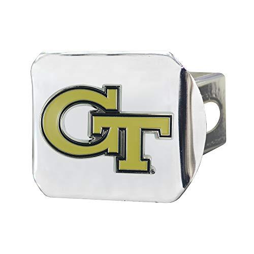 FANMATS NCAA Georgia Tech Color Hitch - Chromecolor Hitch - Chrome, Team Colors, One Sized