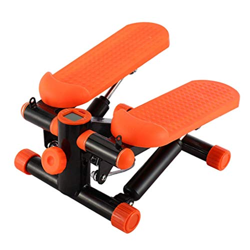 Steppers Sinaasappel for Exercise Indoor fitnessapparatuur Mute Multi-function loopband Lazy Weight Loss Machine (Kleur: Oranje, Afmetingen: 30 * 18 * 35cm) hsvbkwm