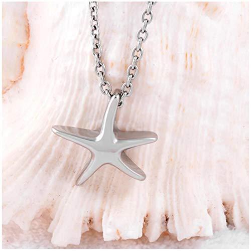 Wxcvz Ceniza Collar Colgante Star Fish Ashes Holder Recuerdo Collar De Urna De Cremación Medallón Conmemorativo De Acero Inoxidable Colgante Regalo Diseño Unisex