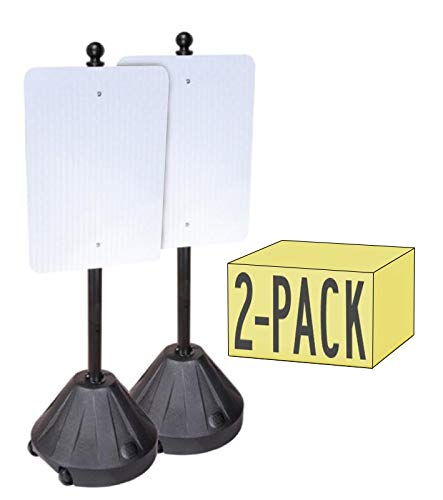 Tip'n Roll Portable Sign Pole II - 2 Pack - Black