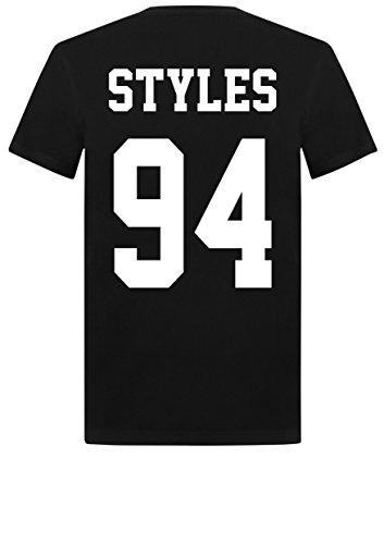 Camiseta unisex Harry Styles 94 One Direction 1D Zayn Malik Horan Tumblr Negro