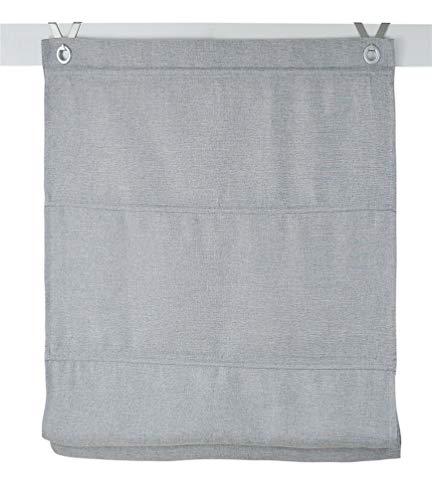 Kutti Raffrollo Ösenrollo Dimout grau ca. 100 x 130 cm