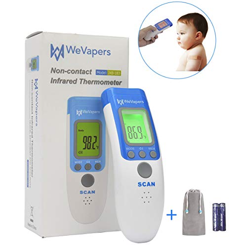 Wevapers Medical Forehead Thermometer, Digital Infrared Temporal Thermometer for Fever, Portable Non-Contact Termometro, Instant Accurate Reading for Baby Kids and Adults
