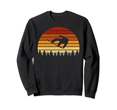 Vintage Sonne Snowboard Geschenk für Snowboarder Sweatshirt