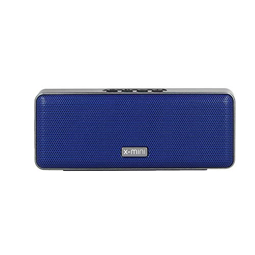 X-mini Xoundbar - Portable Bluetooth Stereo Speaker, Loud Volume, Wireless, Built-in Microphone, Lightweight, Mini, for Home/Outdoors/Travel, for iPhone, Android and More (Blue)