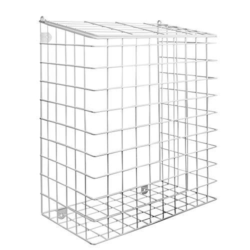 Briefkäfig mit Befestigungen | Mail Catcher Cage | Eisenkorb Post Catcher | Tür Brief Wache | Outdoor & Indoor Briefhalter | M & W