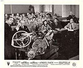 Angel fACE 1952 Original Lobby Card Robert Mitchum Jean Simmons in Court