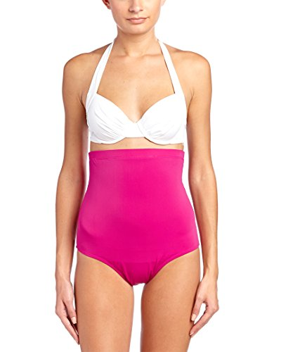 SPANX High-Waist Bikini Swimwear Bottom, 6, Berry