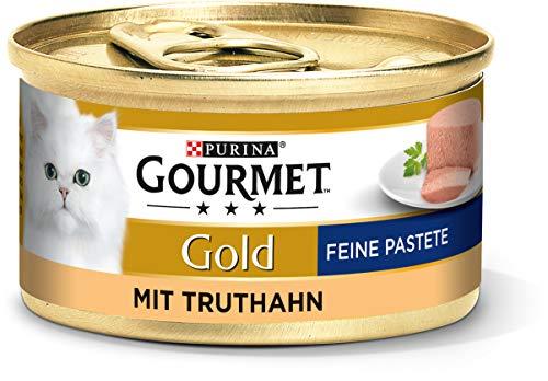 PURINA GOURMET Gold Feine Pastete Katzenfutter nass, mit Truthahn, 12er Pack (12 x 85g)