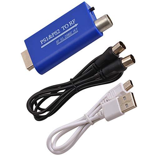 Esenlong Para PS1/PS2 a RF convertidor PS puerto a cable TV señal RF adaptador convertidor