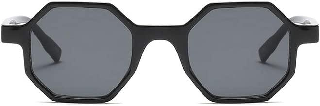 Hexagonal Sunglasses for Men Women Vintage Retro Plastic Octagon Geometric Frame