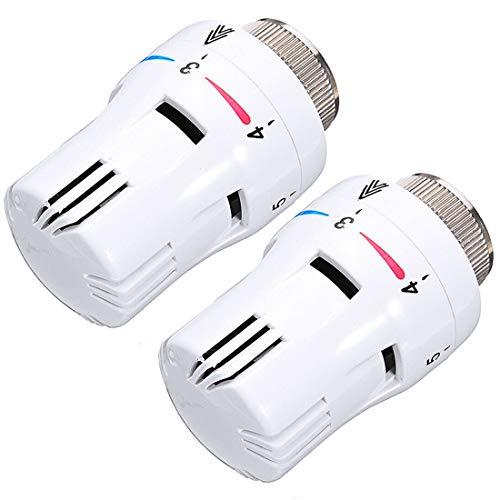 Control de Sistema de calefacción 2PCS válvula termostática del radiador cabeza del reemplazo de temperatura, calefacción por suelo radiante Durable conveniente actuador térmico Radio