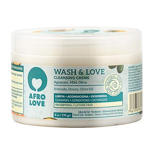 Afro Love Wash & Love Acondicionador Limpiador – Cowash para pelo rizado...