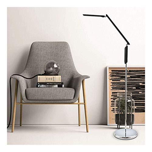WEM Lámpara de pie de varios niveles de atenuación de color simple LED protección ocular sala de estar dormitorio lámpara de noche estudio estudiante lámpara de escritorio brazo largo piano