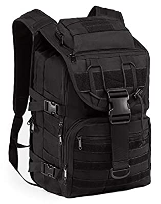 Tactical Backpack Molle Military-Rucksack Survival-Bag - Military Backpack Laptop Molle Bag Tactical Rucksack 3 day Assault Pack