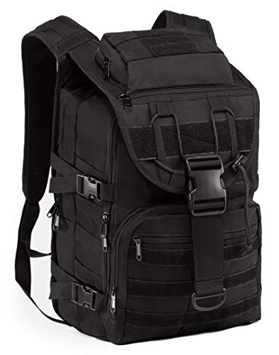 Supersun Tactical Backpack Molle Military-Rucksack - Military Backpack Laptop Molle Bag Tactical Rucksack Survival Bag