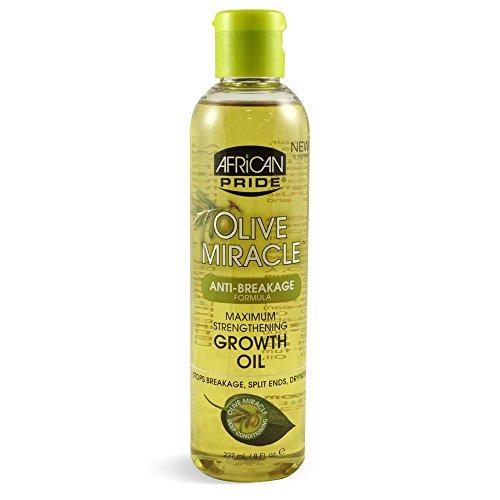African Pride oliva milagro anti-rotura máxima Fortalecimiento Aumento Aceite 237ml / 8 fl.oz./