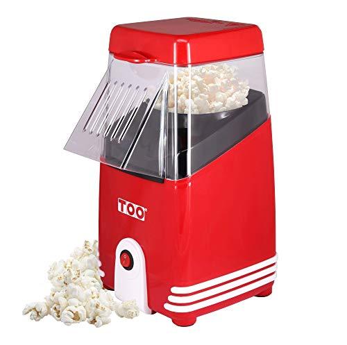 TOO PM-102 Popcornmaschine, Heißluft-Popcorn-Maschine, Popcorn Maker, für 80g Mais, 1200W