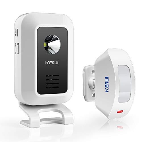 KERUI M7 Alarma de Timbre inalámbrica, Sensor de Movimiento de Puertas y Ventanas con Mode de Bienvenida/Alarma/Timbre/Luz Nocturna para Casa/Oficina/Tienda - Kit de Sistema de Alarma de Hogar DIY