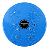 IMIKEYA Waist Twister Aerobic Exercise Balance Board Foot Massage Plate Weight Loss Machine Body Shaping Disc for Indoor Fitness Sports (Blue)